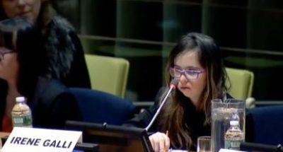 Intervento all'ONU per la giornata mondiale della SD
